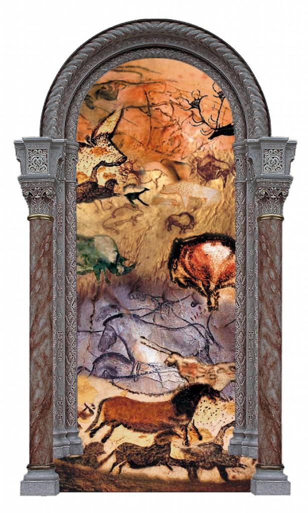 """First Human"" --original artwork by Fatima Lassar for ""The Genesis Meditations"""