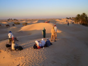 Abwoon Network retreat in the Sahara, 2006.